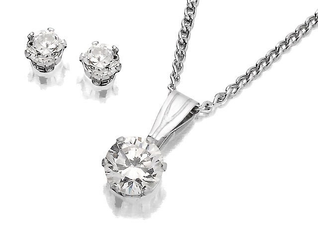 F Hinds Wedding Gifts : ... Zirconia Pendant And Earring Gift Set - F3155 F.Hinds Jewellers