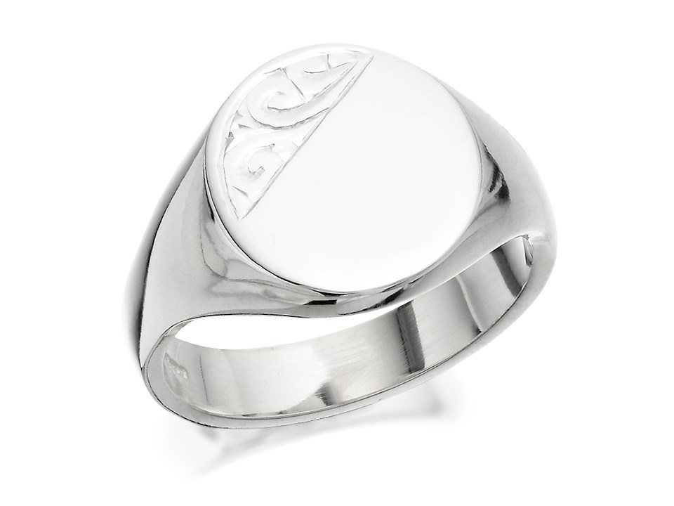 silver heavy oval signet ring f4967 f hinds jewellers