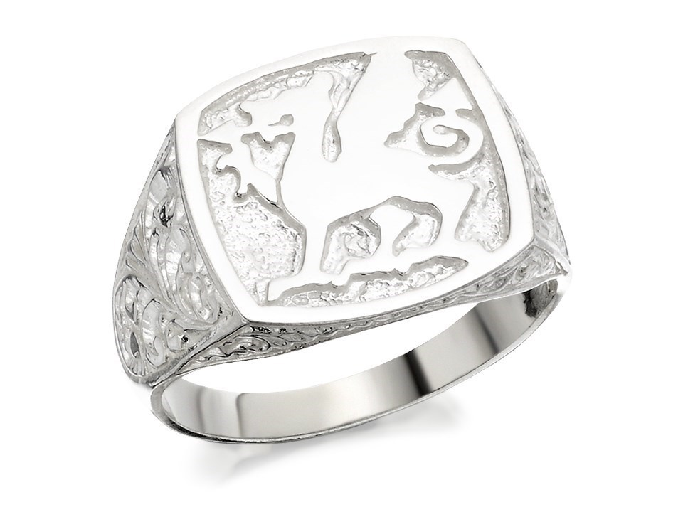 Signet Ring With Welsh Dragon