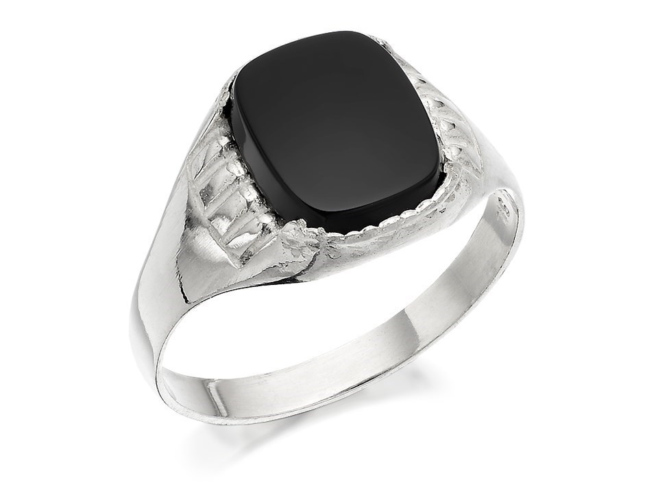 silver onyx signet ring f5113 f hinds jewellers