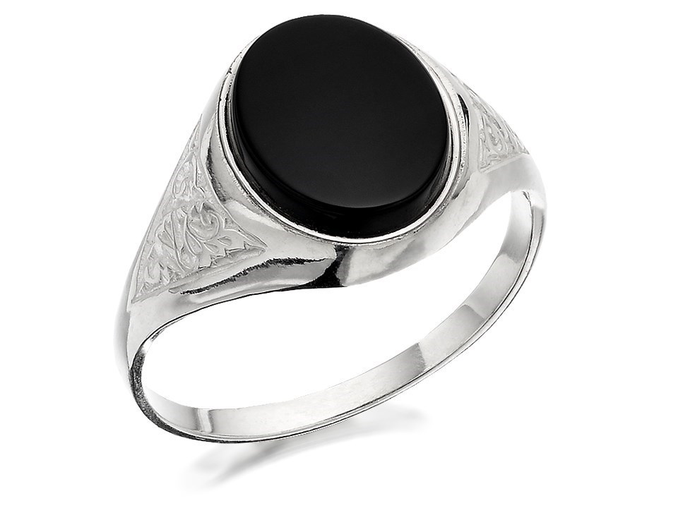 silver onyx signet ring f5127 f hinds jewellers