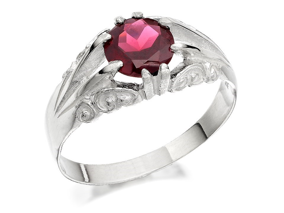 silver garnet signet ring f5135 f hinds jewellers