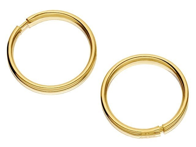 9ct Gold ULTRA MINI Hoop Earrings 9mm diameter G2411