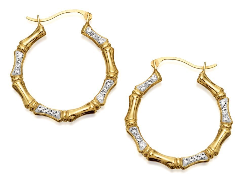 24mm F.Hinds Jewellery 9ct Gold Rope Design Creole Hoop Earrings