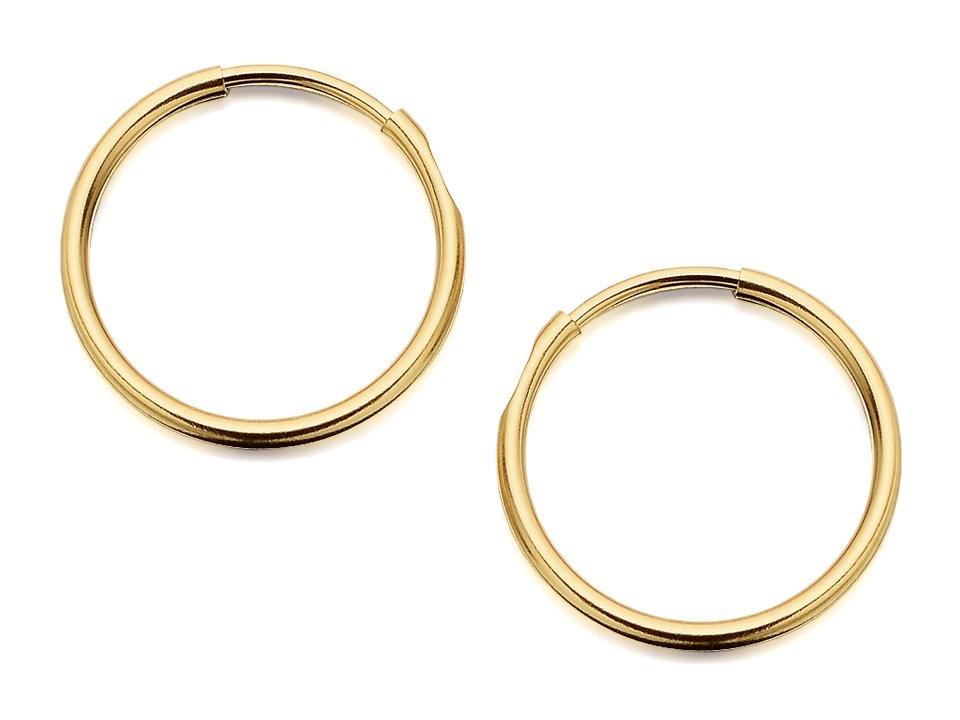 9ct Gold Hoop Earrings 14mm G2457