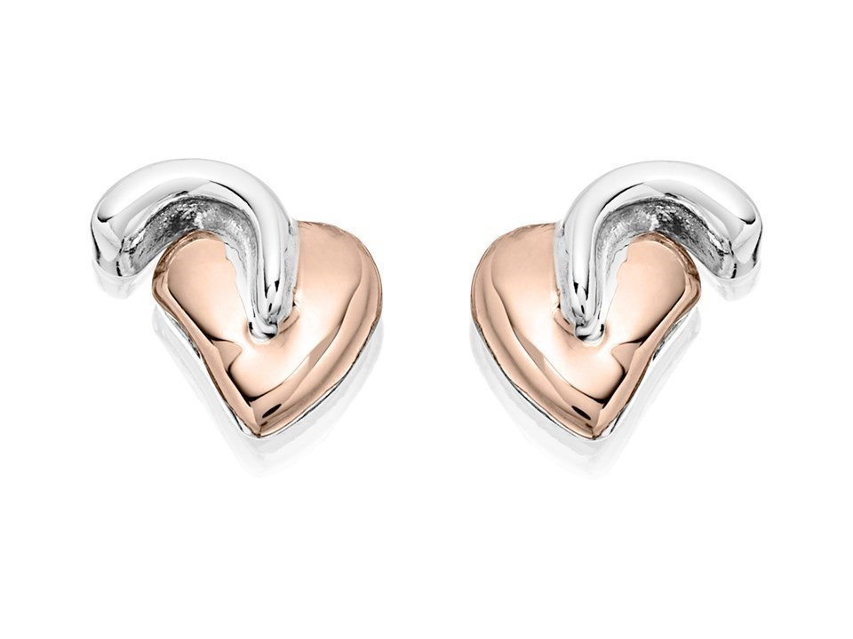 Clogau Silver And 9ct Rose Gold Tree Of Life Stud Earrings