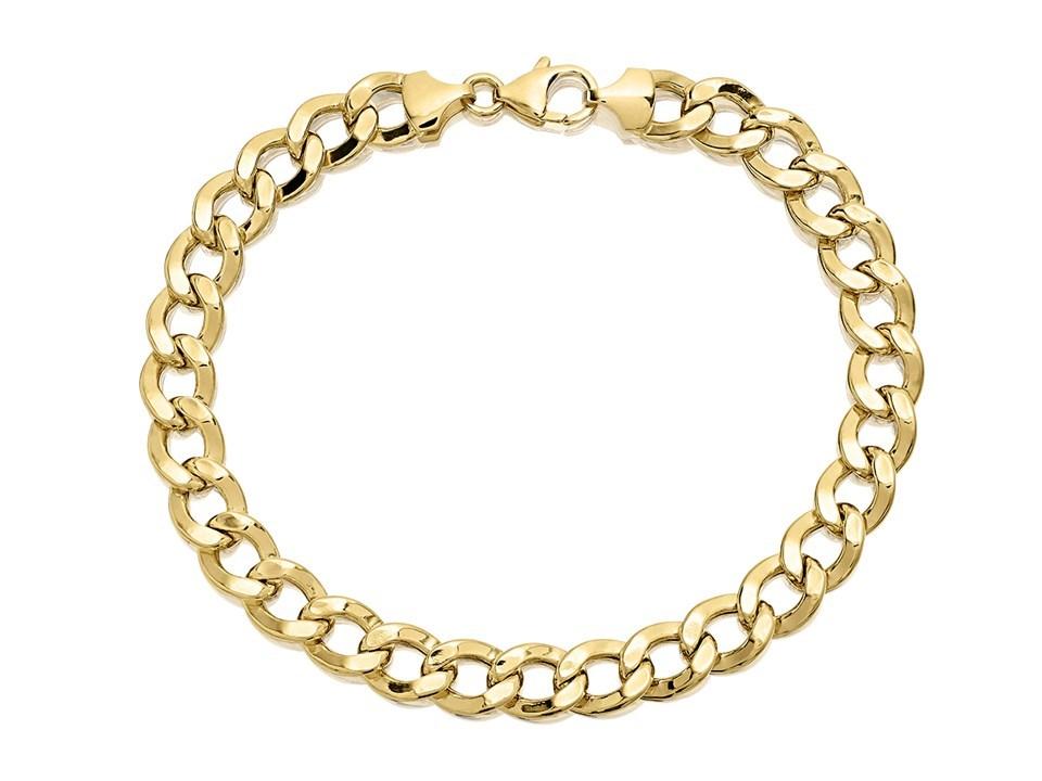 Aureus 9ct Gold Bonded Curb Bracelet 8 5in G6002 F Hinds Jewellers