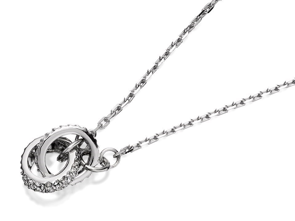 c3d22c35b0974 Oliver Weber Swarovski Crystal Two Circles Pendant And Chain - J8505