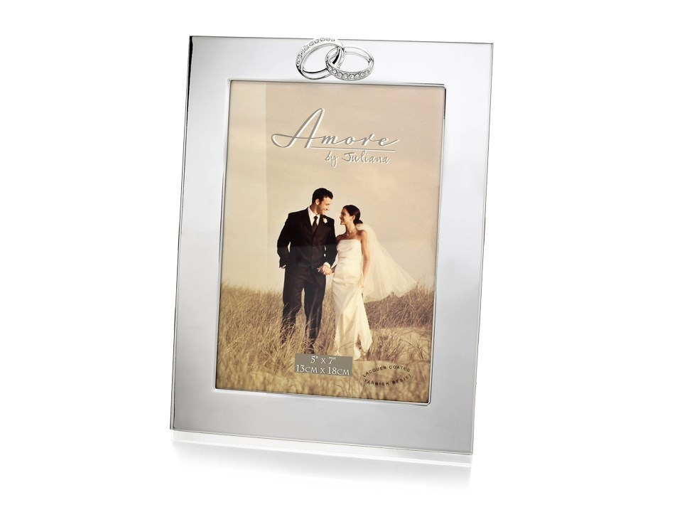 amore silver plated wedding photo frame p7138 fhinds