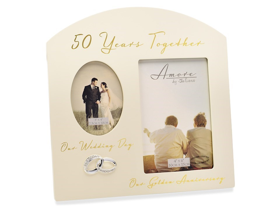 Amore 50th Anniversary Photo Frame - P7147 | F.Hinds Jewellers