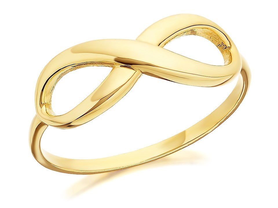 9ct gold infinity ring r1907 f hinds jewellers
