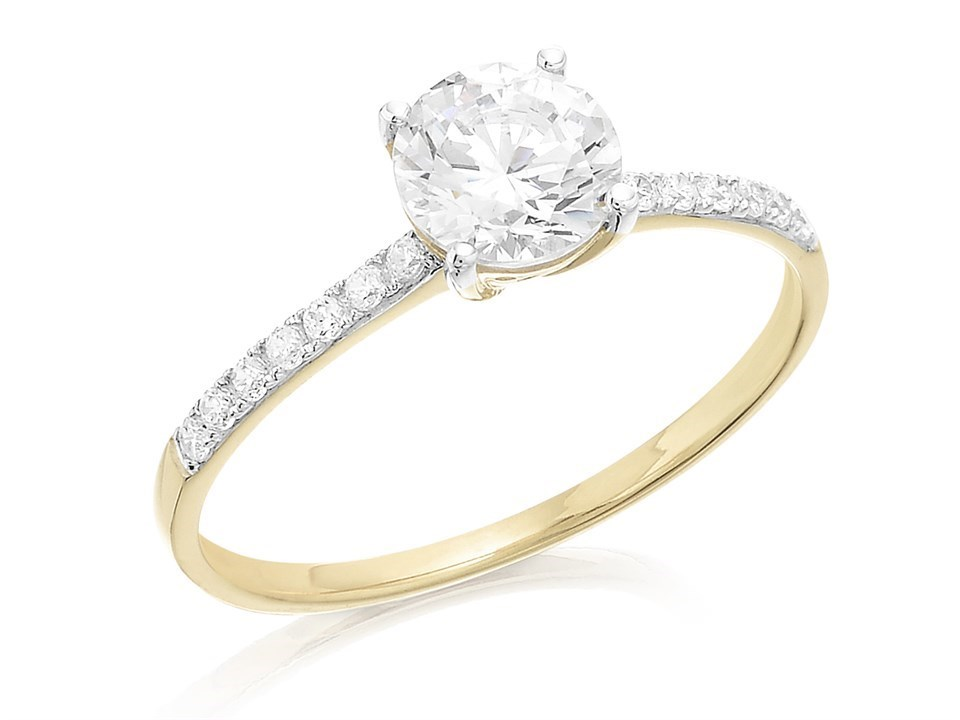 9ct Gold Cubic Zirconia Ring R5932 F Hinds Jewellers