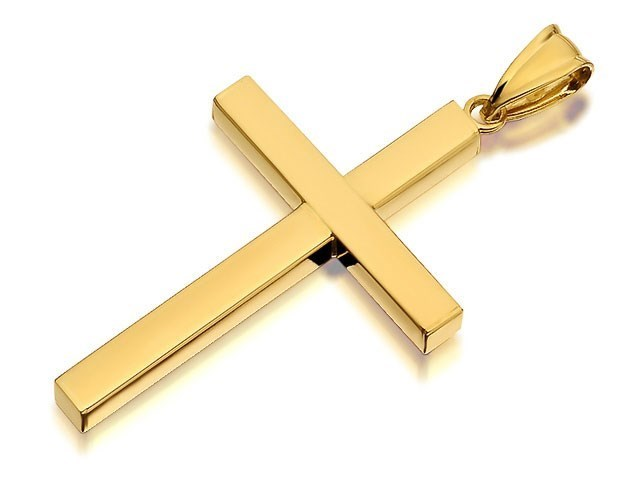 9ct Gold Classic Cross 30mm Exclusive R6328 F