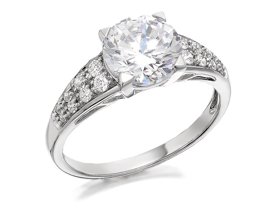 9ct white gold cubic zirconia ring r6502 f hinds jewellers
