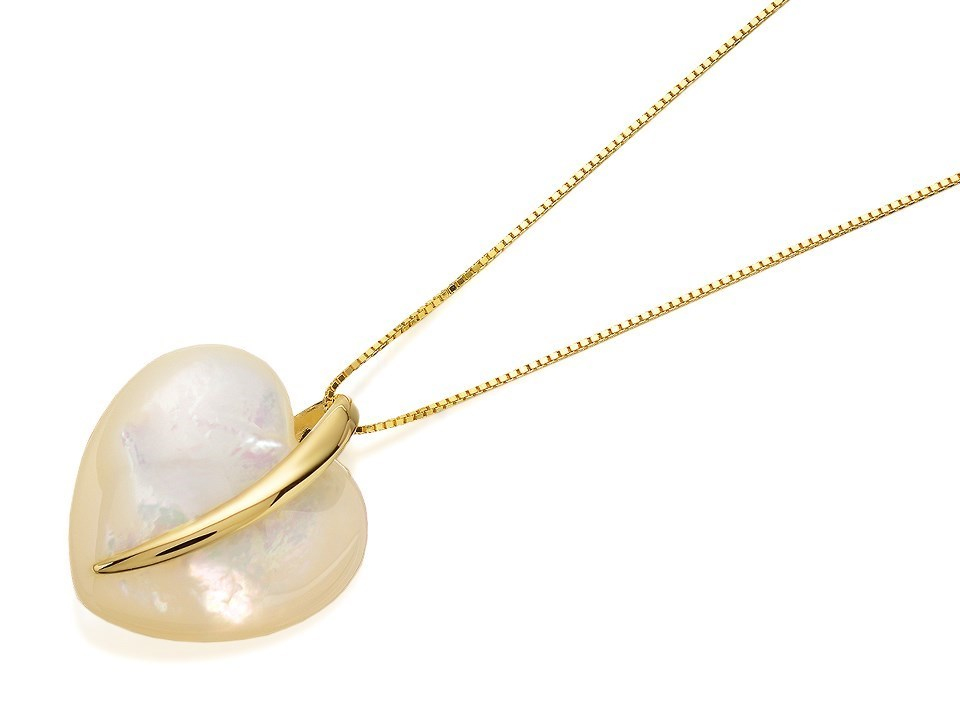9ct gold mother of pearl heart necklace r8253 fhinds jewellers 9ct gold mother of pearl heart necklace r8253 aloadofball Image collections