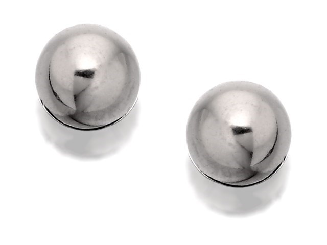 9ct White Gold Ball Ear Piercing Studs 4mm S75925