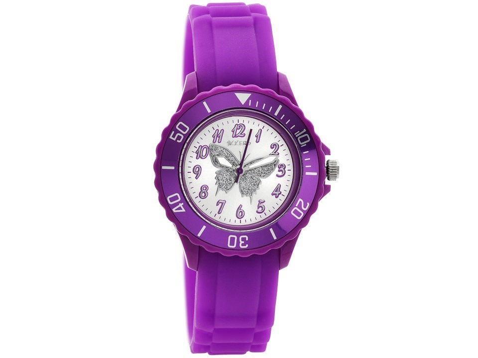 Tikkers T0035 Purple Silicon Strap Watch