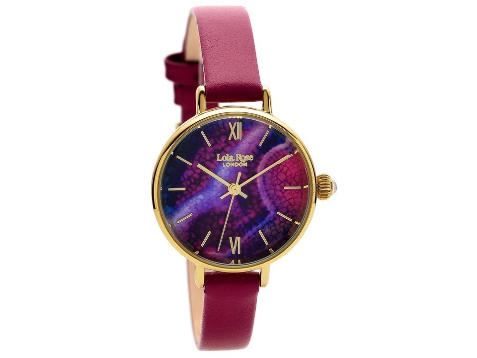 Lola rose lr2038 agate purple leather strap watch w0313 f hinds jewellers for Violet leather strap watch