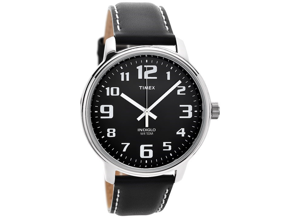 Timex t28071 easy reader indiglo black leather strap watch w0441 f hinds jewellers for Indiglo watches