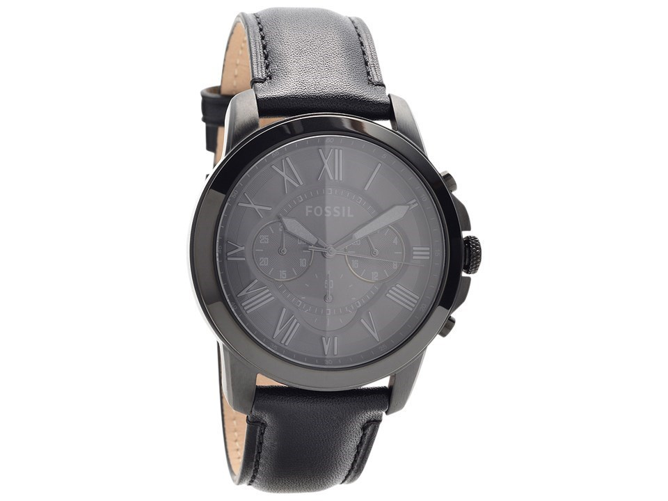 9c33a863e Default Image Fossil FS5132 Grant Chronograph Black Leather Strap Watch -  W07108Alternative Image1 ...