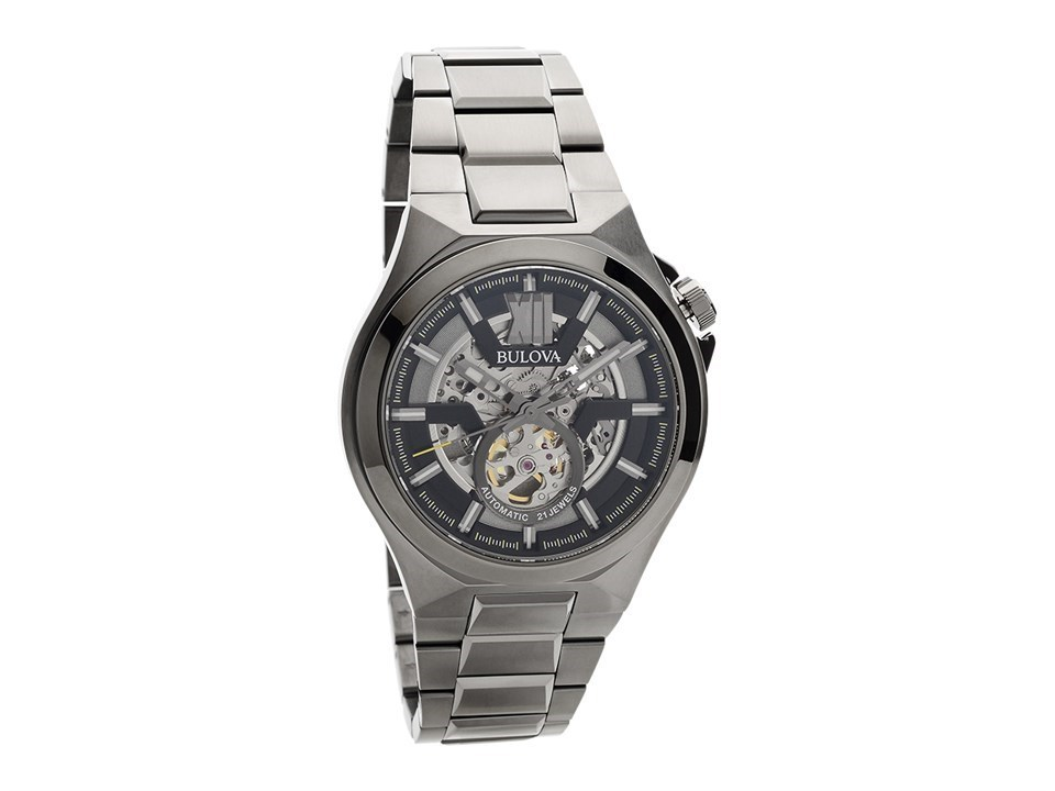 Bulova 98a179 classic automatic skeleton dial bracelet watch w09130 f hinds jewellers for Classic skeleton watch