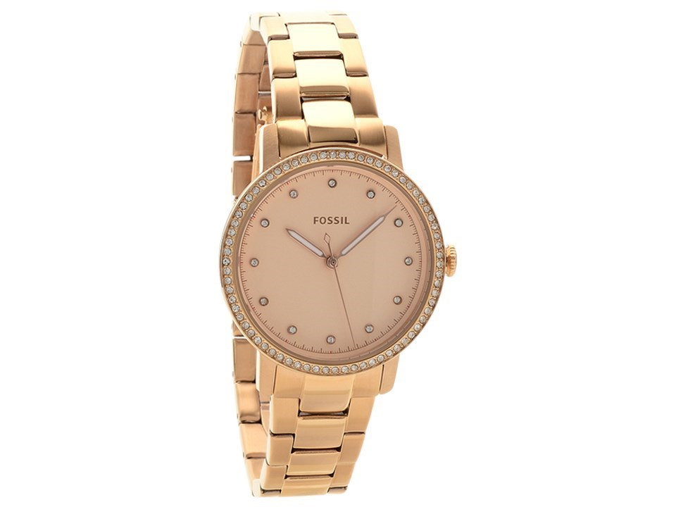 fossil es4288 neely rose gold plated bracelet watch w10124 f hinds jewellers. Black Bedroom Furniture Sets. Home Design Ideas
