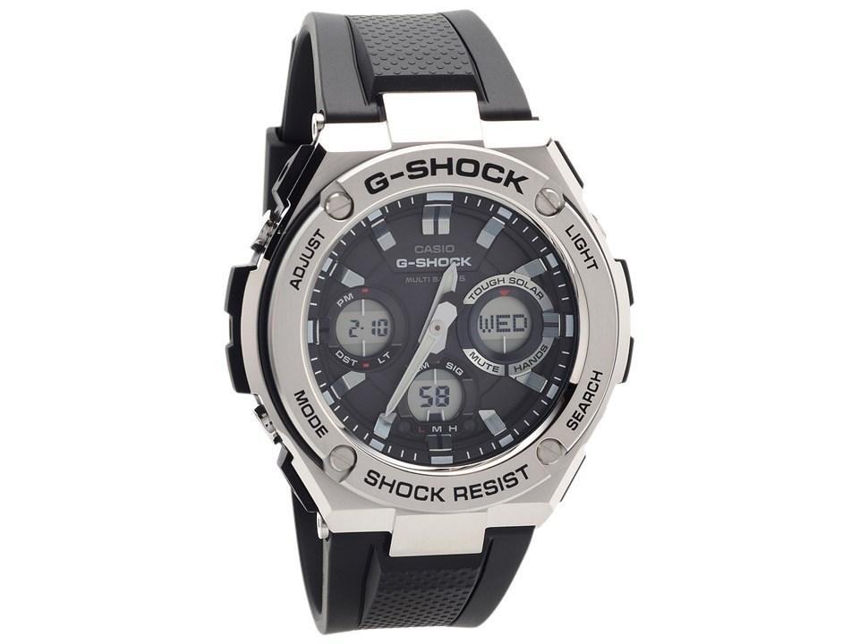 Casio Gst W110 1aer G Shock G Steel Solar Radio Controlled Black