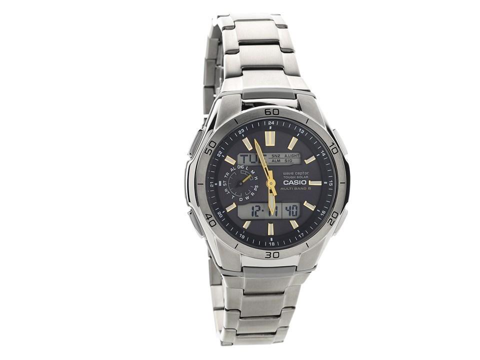 2f667cdfc0d7 Default Image Casio WVA-M650TD-1A2ER Wave Ceptor Solar Titanium Bracelet  Watch ...