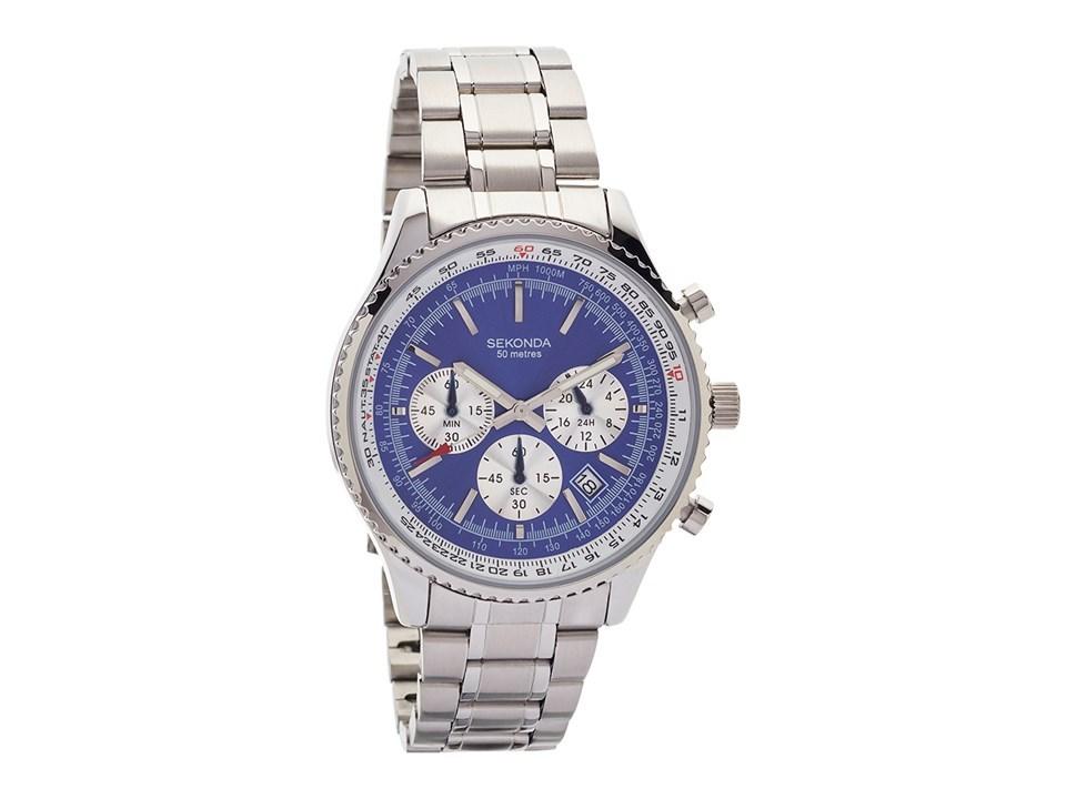 Sekonda 1056 Stainless Steel Chronograph Bracelet Watch W3101