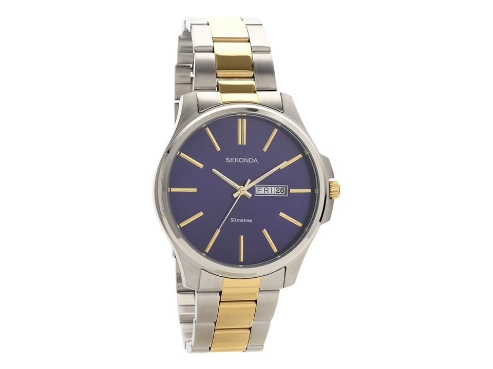 3e7226da9727 Default Image Sekonda 1440 Two Tone Blue Dial Bracelet Watch -  W31152Alternative ...