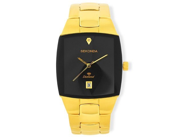 Sekonda 3899 Gold Plated Diamond Set Bracelet Strap Watch W3161