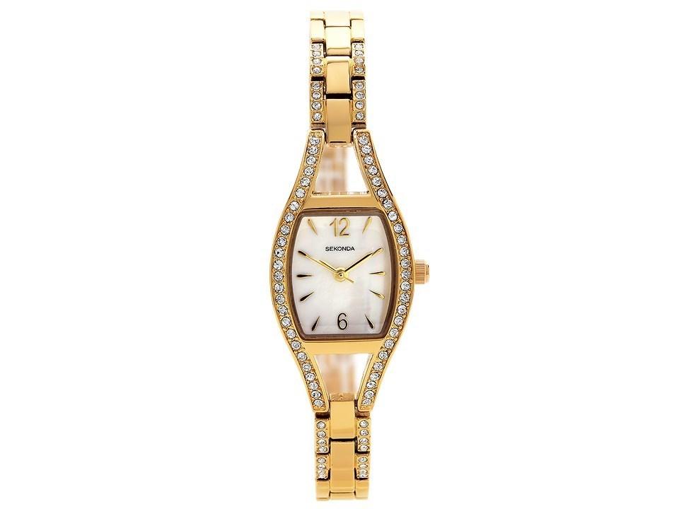 Sekonda 2392 Gold Plated Stone Set Bracelet Watch W