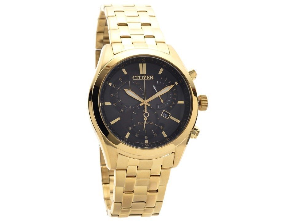 citizen at2292 57e gold plated eco drive chronograph bracelet citizen at2292 57e gold plated eco drive chronograph bracelet watch w3904