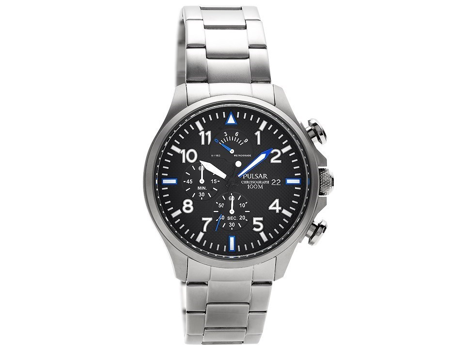 Pulsar PS6049X1 Stainless Steel Chronograph Bracelet Watch ...