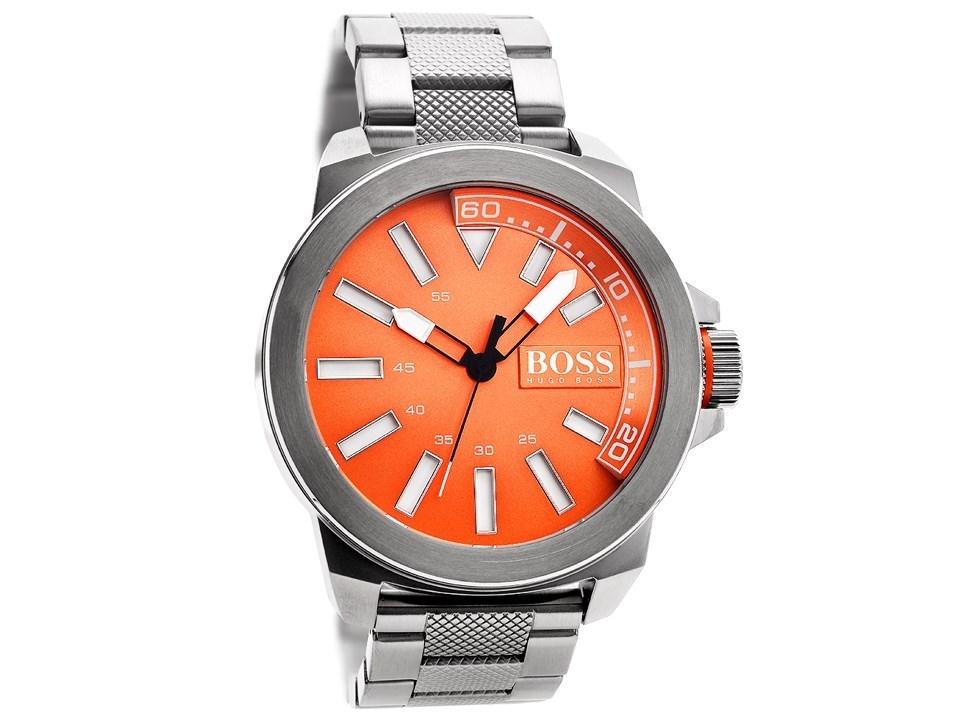 hugo boss orange 1513007 stainless steel orange dial. Black Bedroom Furniture Sets. Home Design Ideas