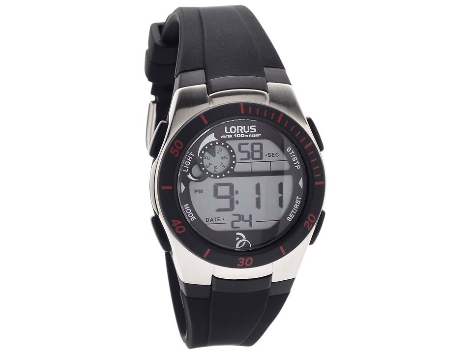 Lorus r2375kx9 chronograph lcd black resin strap watch w5838 f hinds jewellers for Black resin ladies watch