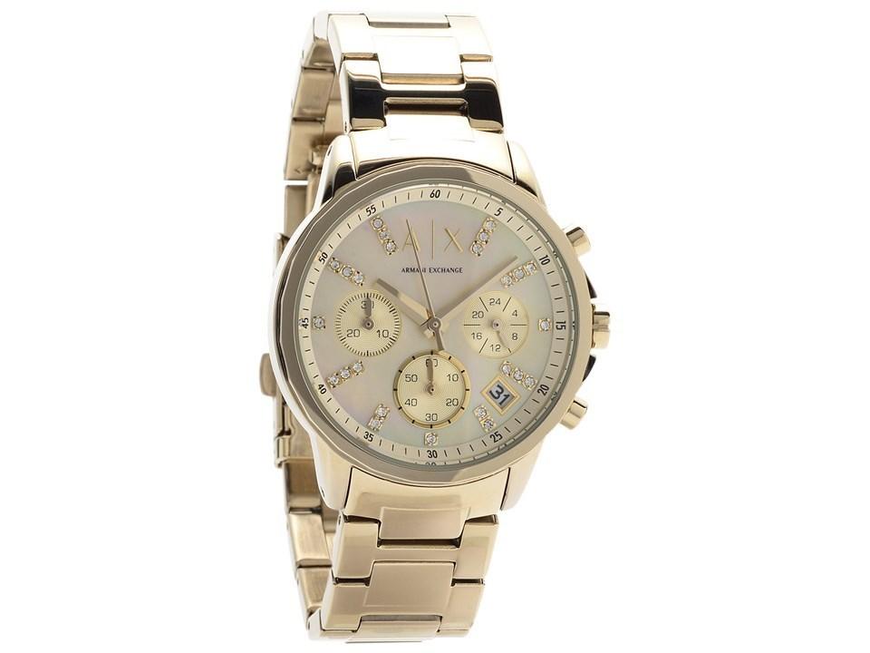 armani exchange ax4327 gold plated chronograph bracelet