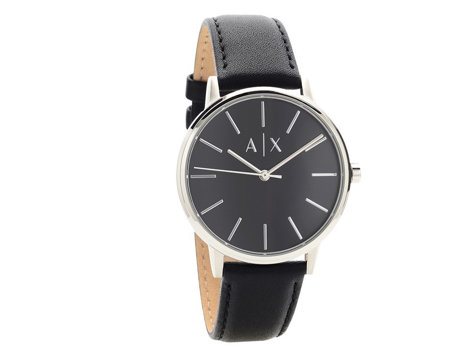 04704d83 Armani Exchange AX2703 Black Leather Strap Watch - W65128