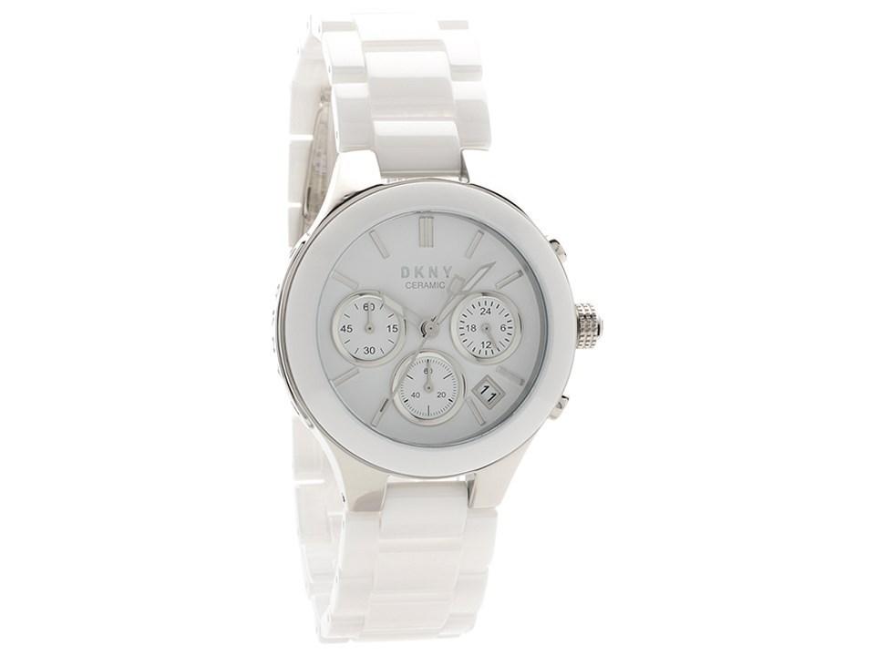 f4f9b0c0f DKNY NY4912 Chambers Chronograph White Ceramic Bracelet Watch ...