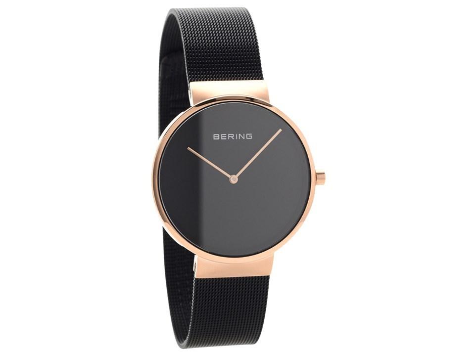 fe6f568f8 Bering rose tone black mesh bracelet watch jpg 960x720 Bering 14539
