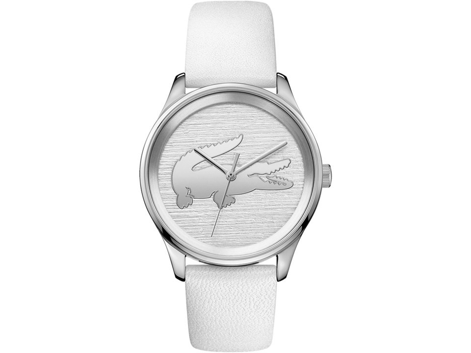 19ddaa3db9 Lacoste 2001001 Victoria Stainless Steel White Leather Strap Watch ...