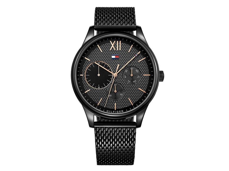 tommy hilfiger 1791420 damon black mesh bracelet watch w95100 f hinds jewellers. Black Bedroom Furniture Sets. Home Design Ideas