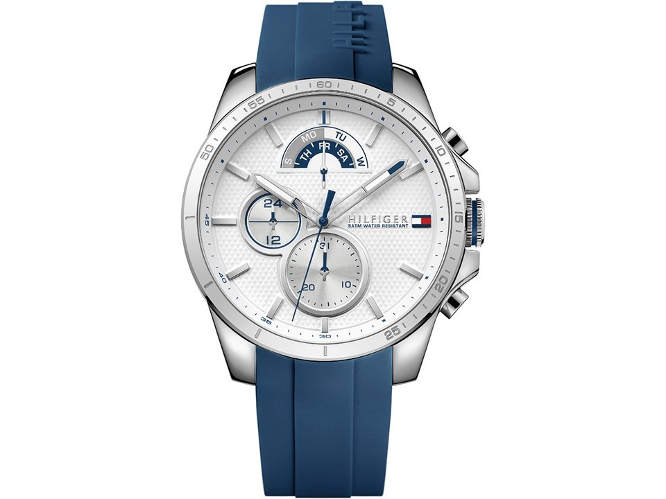 56fcfd43 Tommy Hilfiger 1791349 Decker Blue Resin Strap Watch - W9583 | F ...