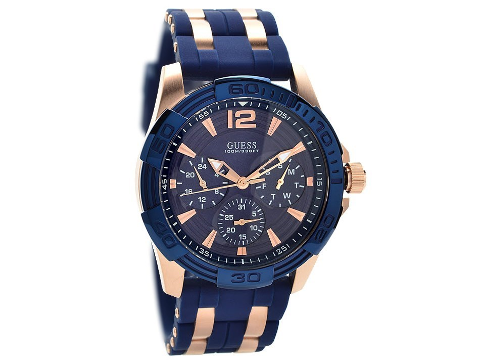 Guess W0366G4 Oasis Rose Gold Plated Blue Silicon Strap ... - photo #22