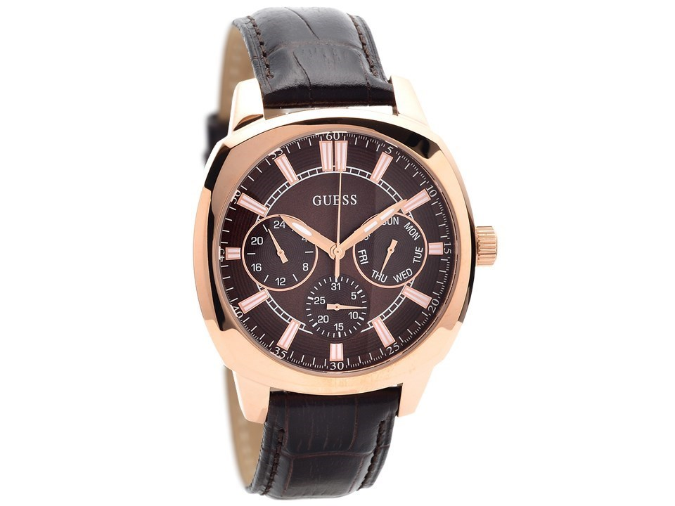 Guess W0660G1 Prime Rose Gold Plated Chronograph Brown ... - photo #4