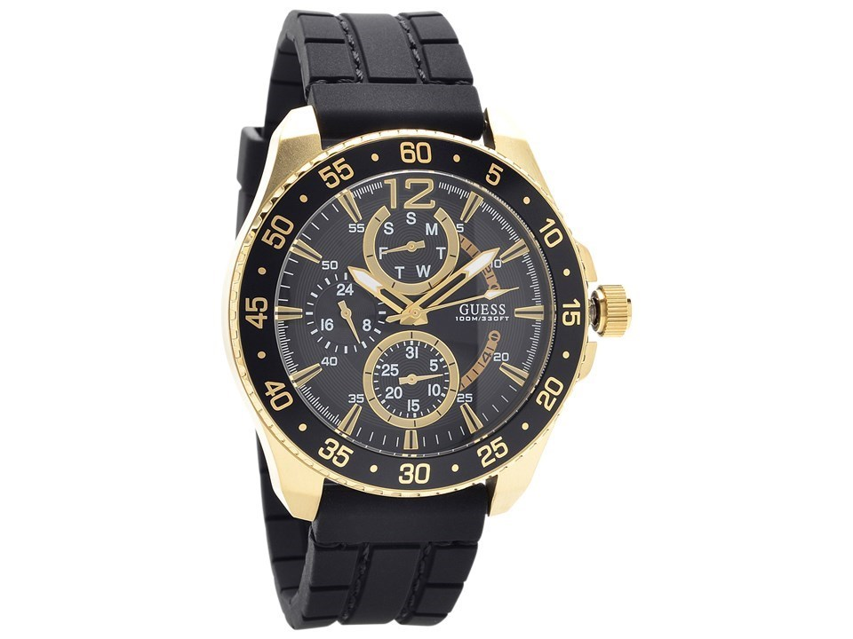 guess w0798g3 jet gold plated black silicon