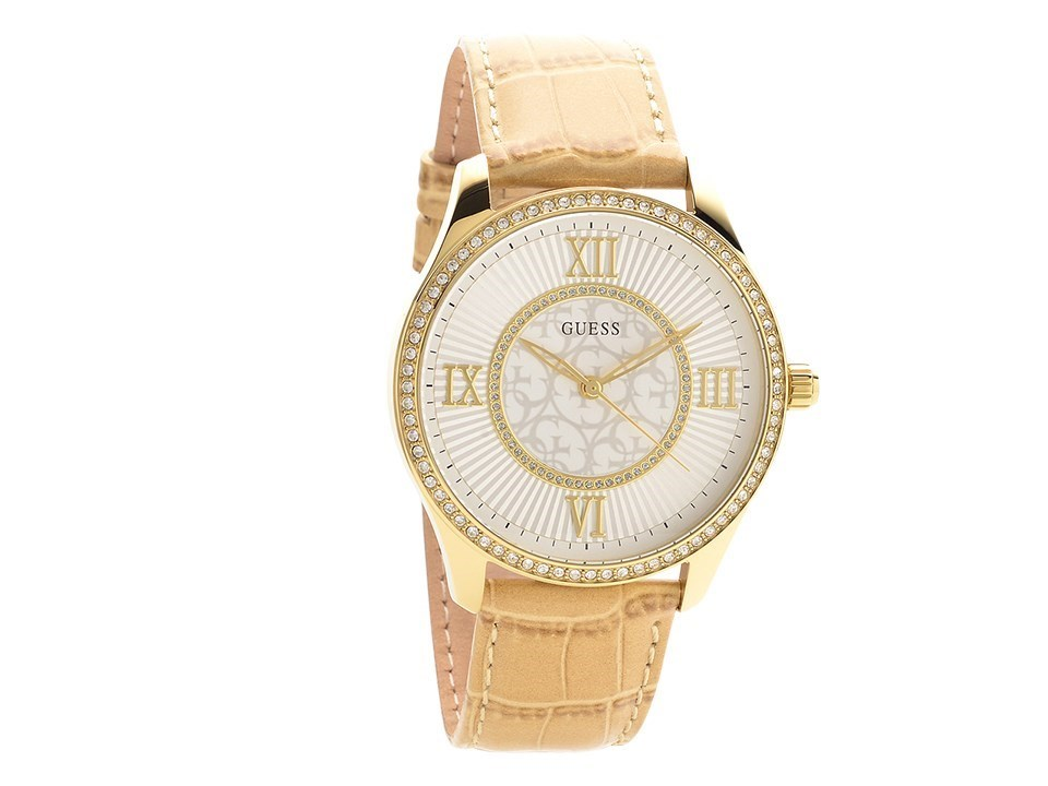 guess broadway gold plated leather