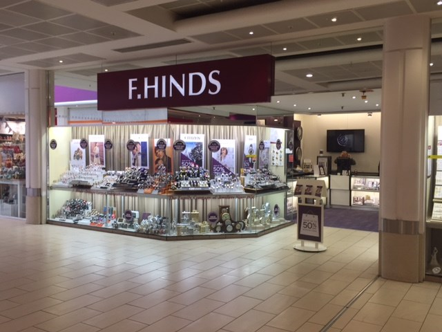 F Hinds the Jewellers Crystal Peaks Jewellery and Watch shop